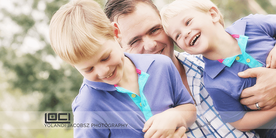 Banner for Family Shoot in Johannesburg South fun with dad by Loci Photography blog Yolandi Jacobsz professional portrait and family photographer