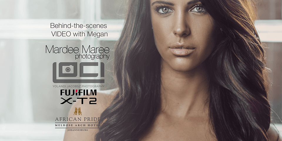 Behind-the-scenes video with Megan Skye Strydom, shot with the X-T2. African pride Hotel, Melrose Arch.