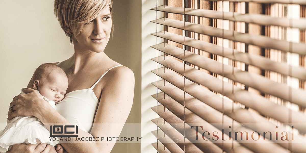 Header for newborn shoot done in Johannesburg testimonial, shot by Loci Photography