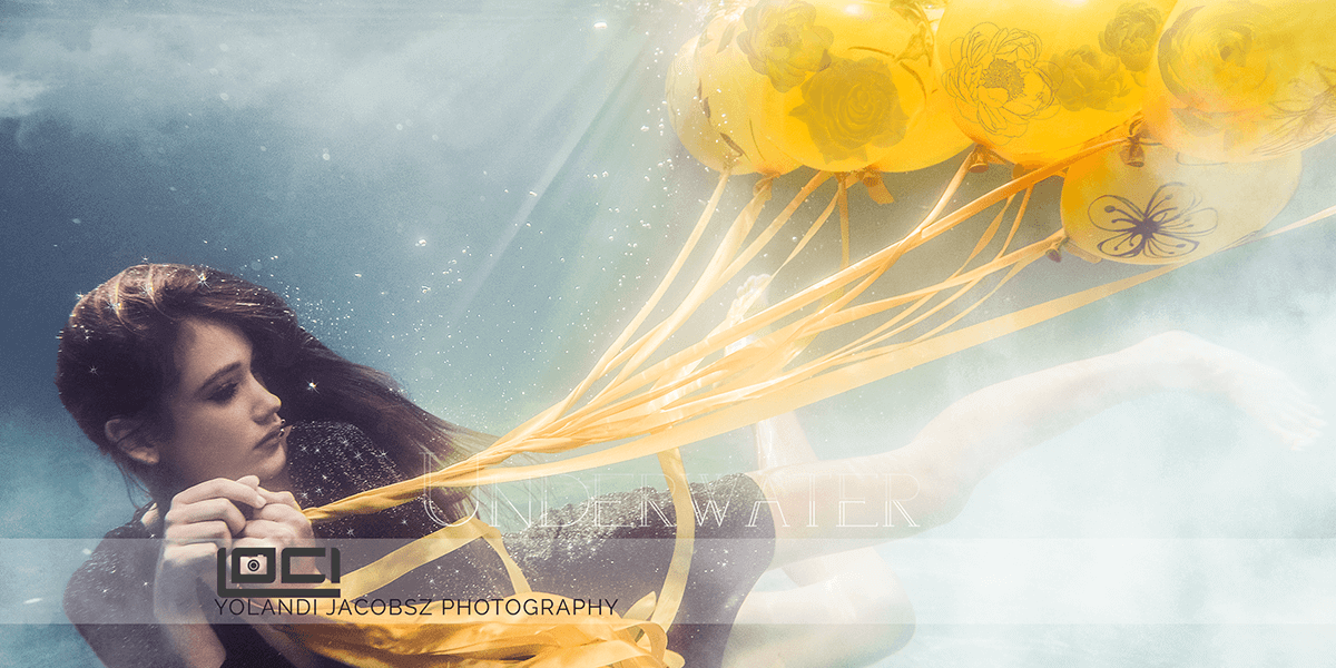 Header for Underwater photography shoot done in Pretoria, with model Elsa Hansen of Boss Models, by Loci Photography