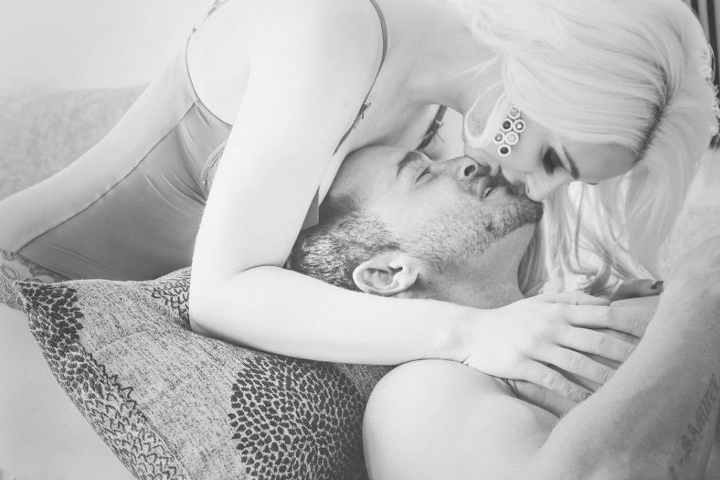 An example of beautiful couple boudoir photography done on location in Fourways, Johannesburg, by Loci Photography