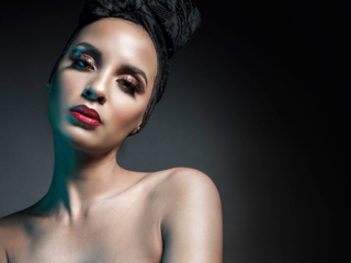 An example of beauty work done for the portfolios of makeup artists, shot by Loci Photography