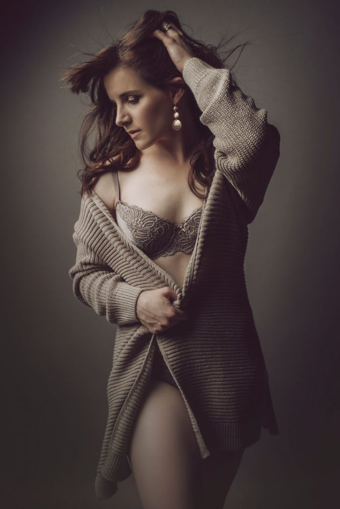 An example stunning professional boudoir photography by Loci Photography