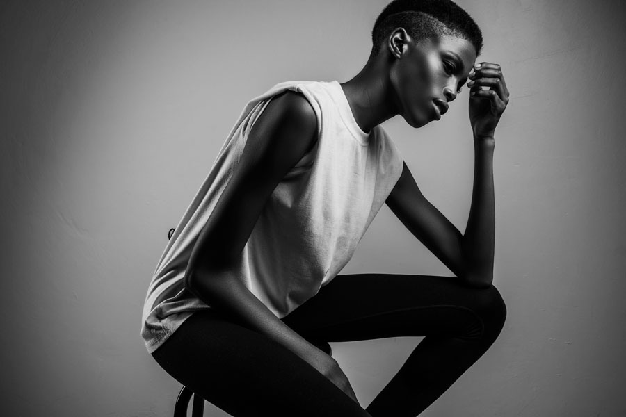 An example of beautiful African models shot in studio, for their portfolios, by Loci Photography
