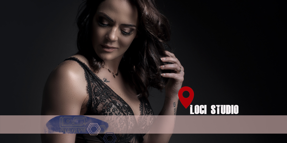 Professional studio boudoir photography by Loci