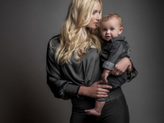 Moody, modern studio family portraits done by Loci Photography