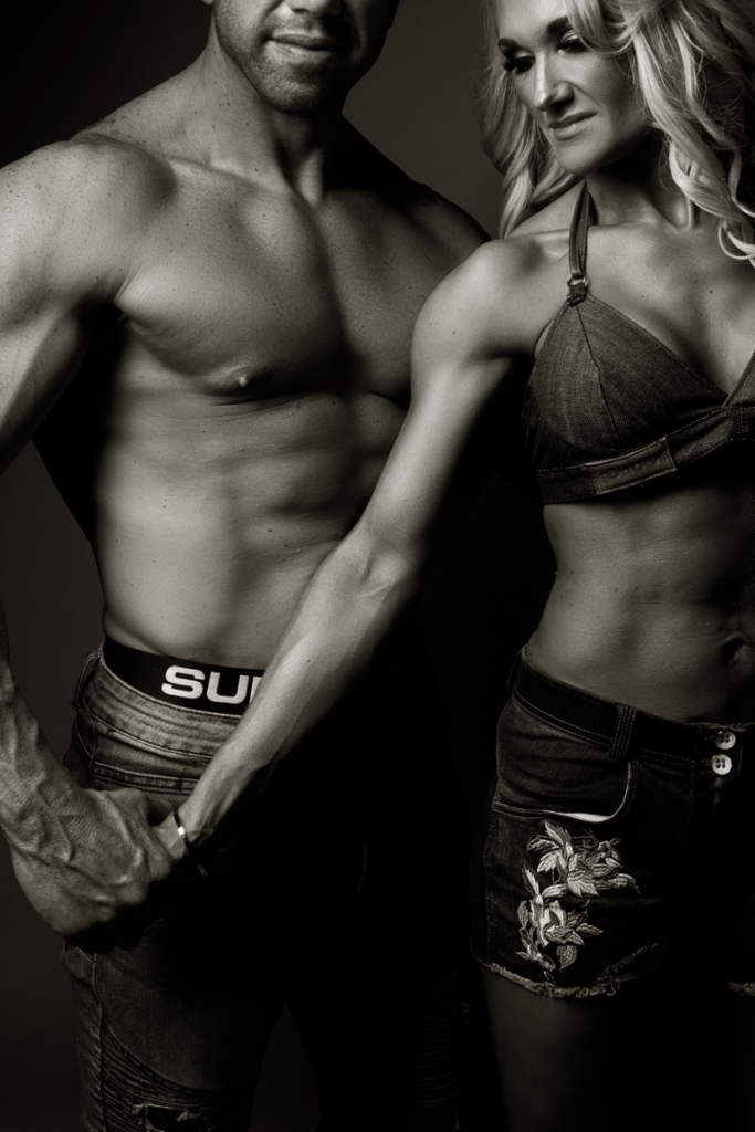 Couple fitness photography at the Loci Photography studio in Pretoria.