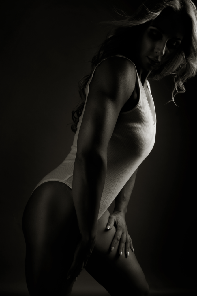 Image taken during fitness photoshoot at the Loci Photography studio.