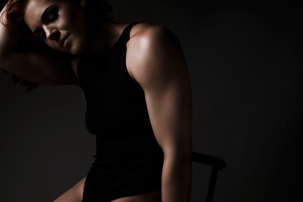 Fitness photography done in studio
