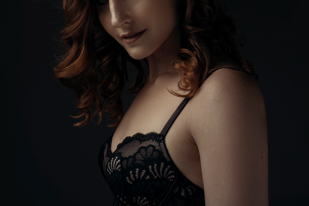 Beautiful boudoir moments in the Loci Photography studio.