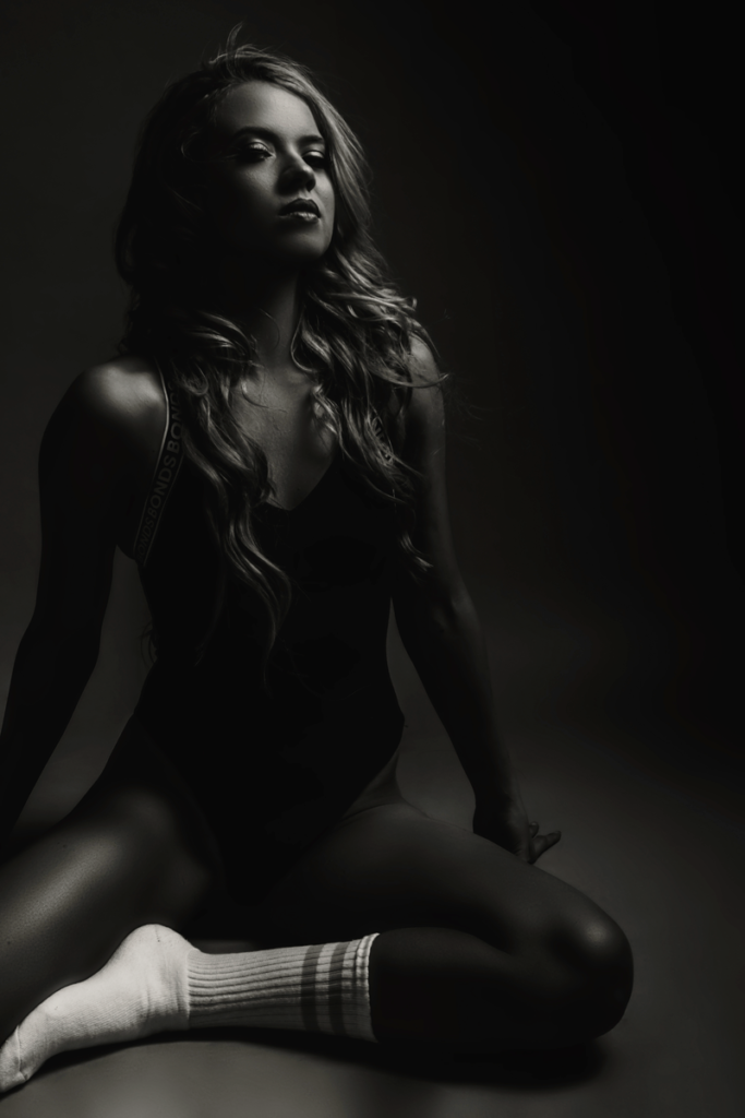 Moody images taken during a fitness shoot in studio by Loci Photography.