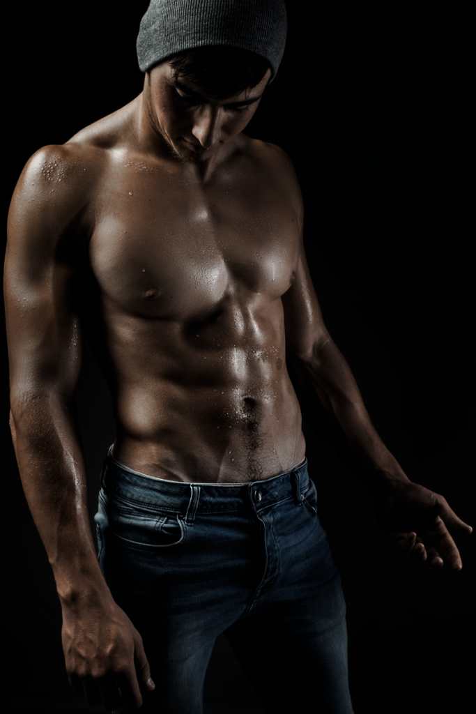 Fitness shoots showcasing the physique taken in studio by Loci Photography.