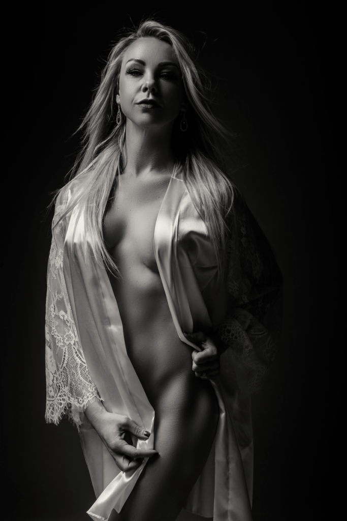 Sexy and sensual boudoir image taken in studio by Loci Photography in Pretoria.