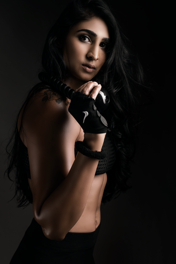 Stunningly fierce fitness photography done in studio by Loci Photography.