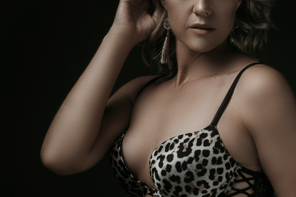 Boudoir photoshoot done professionally and sensually in the Loci Photography studio.