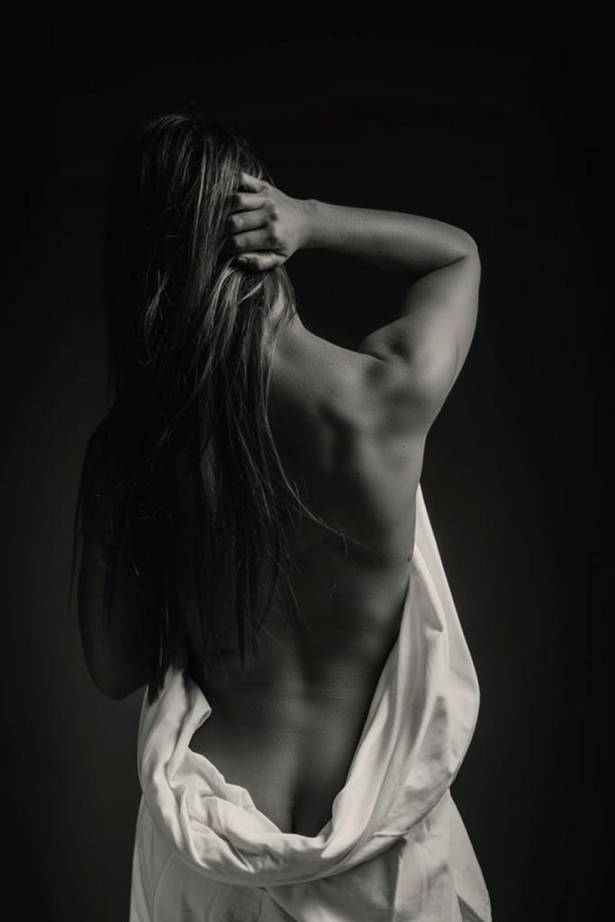 The hero back shot during a Loci Photography boudoir shoot