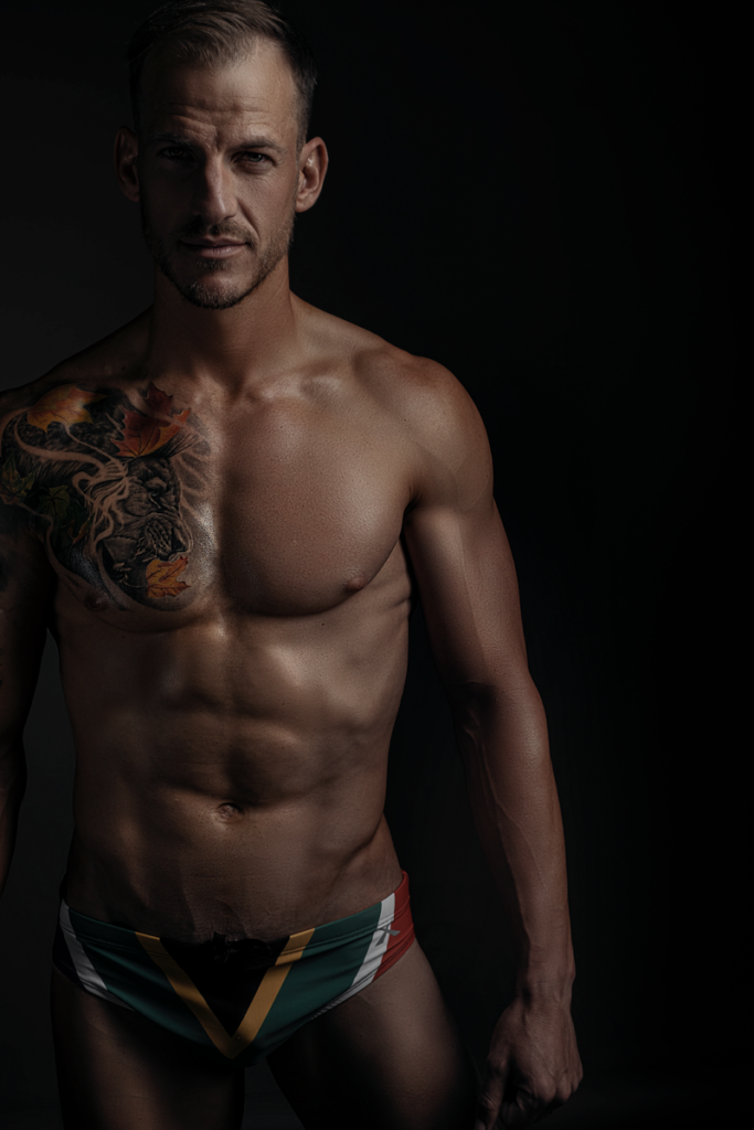 Stunningly moody fitness photography done in Loci Photography's studio in Pretoria.