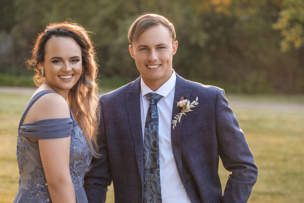 Professional couple matric dance photography done in Krugersdorp by Loci Photography.