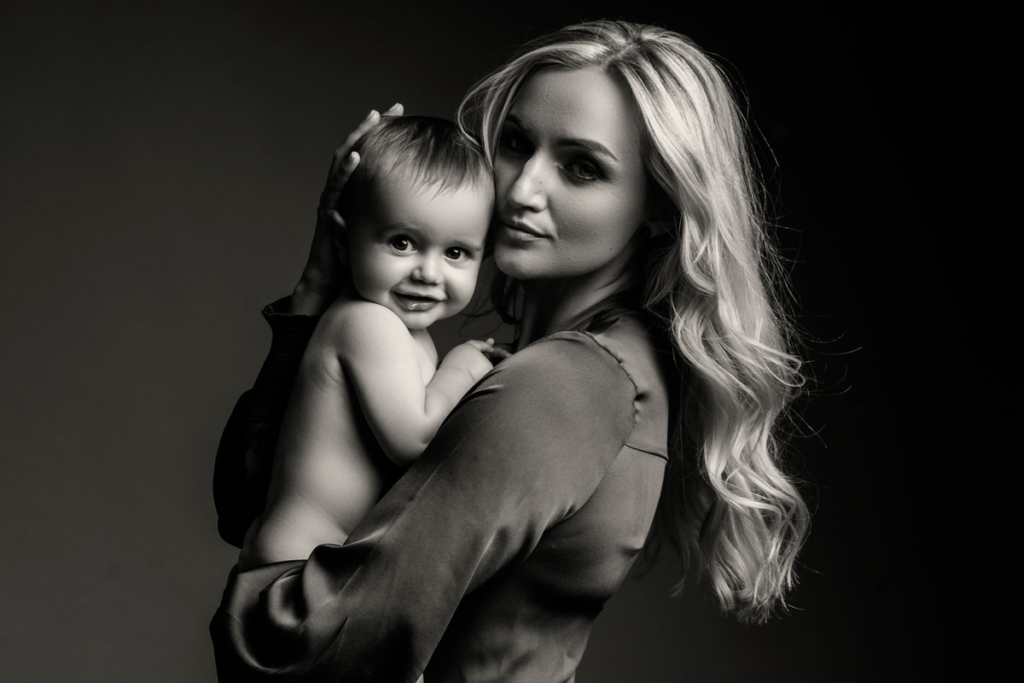 Stunning mommy and baby images done in studio by Loci Photography.