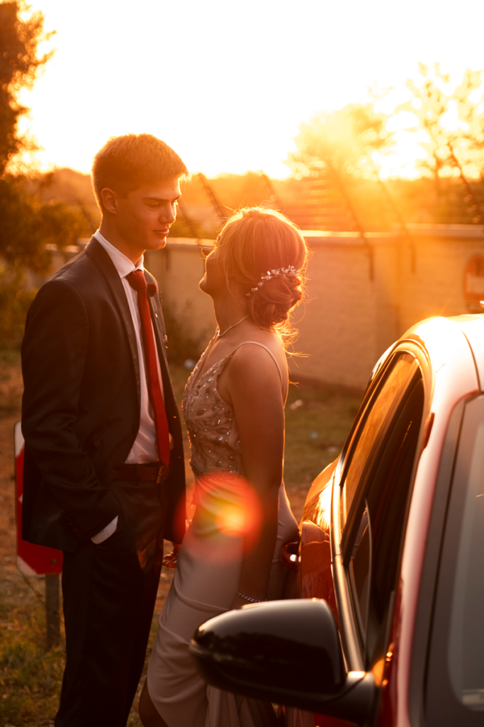 Stunning matric dance sunsets for matric dance photography on location in Pretoria by Loci Photography.